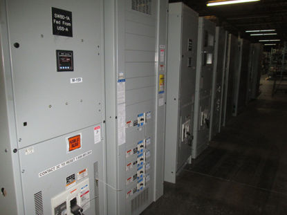 Picture of Eaton/Cutler-Hammer Pow-R-Line C Switchboard 1600A 3ph 4w CRD316T106W Main-Tie-Main Breaker Panel