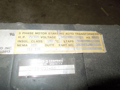 Picture of Neco-Hammond 29203C1.00 75HP/100HP 440/480V 2-Coil Auto Transformer Used
