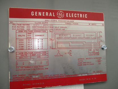 Picture of 1000/1333KVA 12470-480Y/277V GE Transformer Nema 3R #16