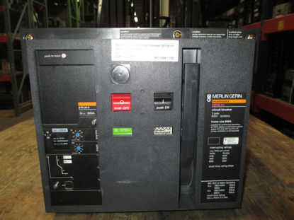 Picture of MP08 H1 Merlin Gerin Masterpact Breaker 800 Amp 600 VAC M/O D/O