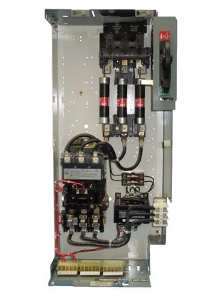 Picture of Allen Bradley 2100 Series FVNR Size-3 Starter Fusible Disconnect MCC Bucket R&G