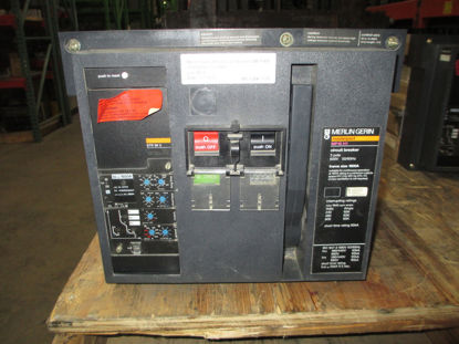 Picture of MP16H1 Merlin Gerin Masterpact Breaker 1600 Amp 600 VAC D/O E/O