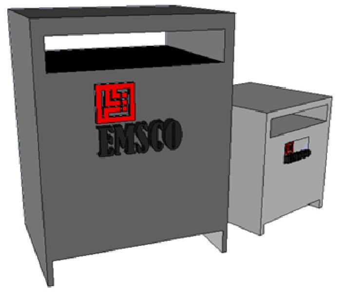Picture of Hammond 330KVA 460-460/266V 3PH Dry Type Transformer