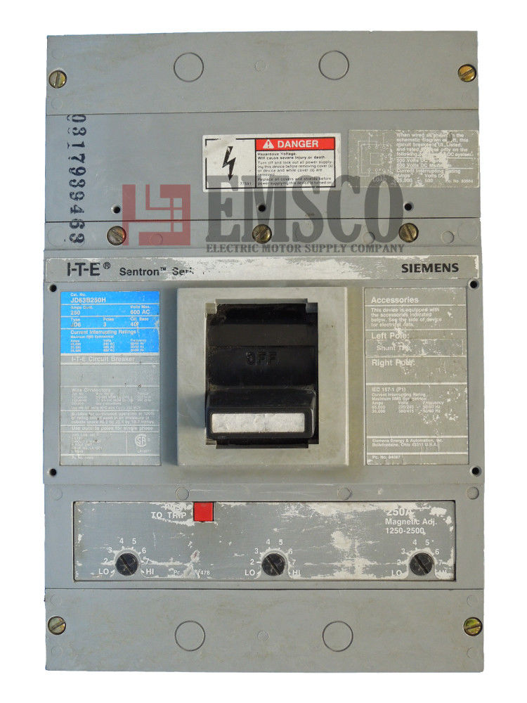 Picture of JD63B250H ITE & Siemens Circuit Breaker