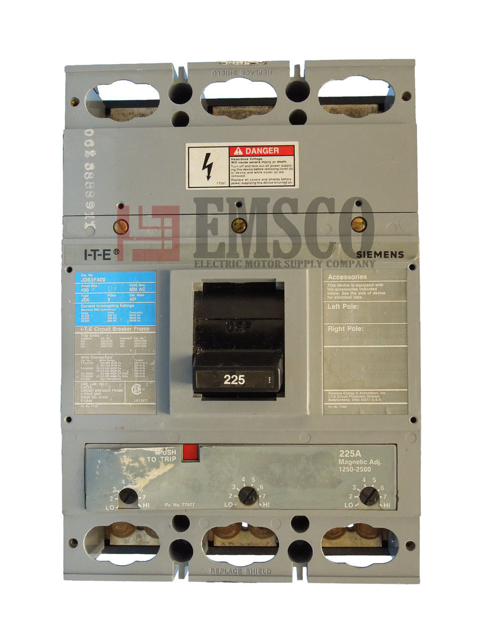 Picture of JD63F250 ITE & Siemens Circuit Breaker