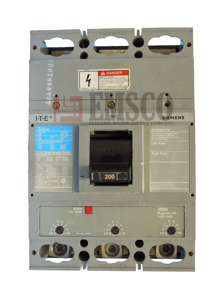 Picture of JD63F400 ITE & Siemens Circuit Breaker