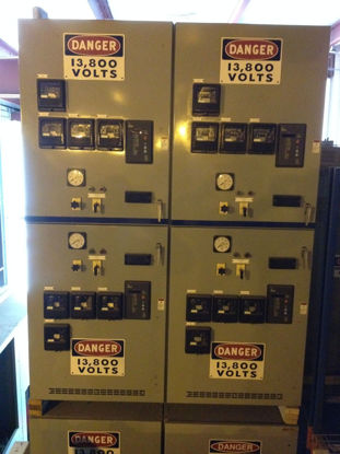Picture of Westinghouse 15KV MLO 150-VCP-W-750 Circuit Breaker Lineup - 6 Sections W/ 10 1200A CB's