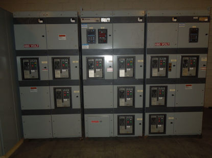 Picture of Cutler-Hammer Magnum DS Metal Enclosed LV Switchgear 3200A Main-Tie-Main 4W w/GF