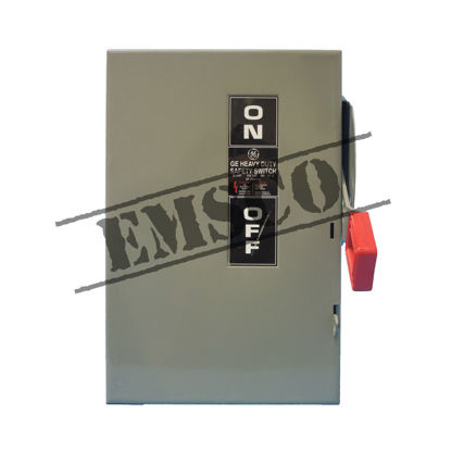 Picture of GE 30 Amp, 600 Volt Non-Fusible Safety Switch