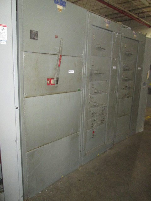 Picture of AMJ Westinghouse 2000 Amp 480/277 Volt 3 Phase 4 Wire Boltswitch VLB3410-ST Main Fusible Panel w/ GFI NEMA 1 (M-018)