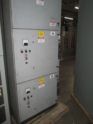 Picture of Siemens Motor Controller Line-up 2300V w/ 2- Starters Used E-Ok EMSCO# MVS-54-55