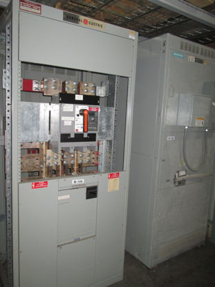 Picture of GE AV Line 1600 Amp 3 Phase 4 Wire 480Y/277V TP1616SS Main Breaker w/ Ground Fault Panel