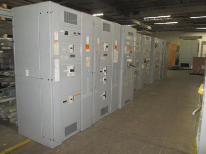 Picture of Cutler-Hammer Westinghouse Pow-R-Line C Switchboard 3000 Amp 3 Phase 4 Wire CBC-3033-B Fusible Main-Tie-Main panel (M-109)