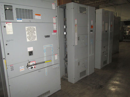 Picture of Cutler Hammer Westinghouse Pow-R-Line C Switchboard 2000 Amp 3 Phase 4 Wire 480/277 Volt CBC-2033-B Fusible Main panel (M-130)