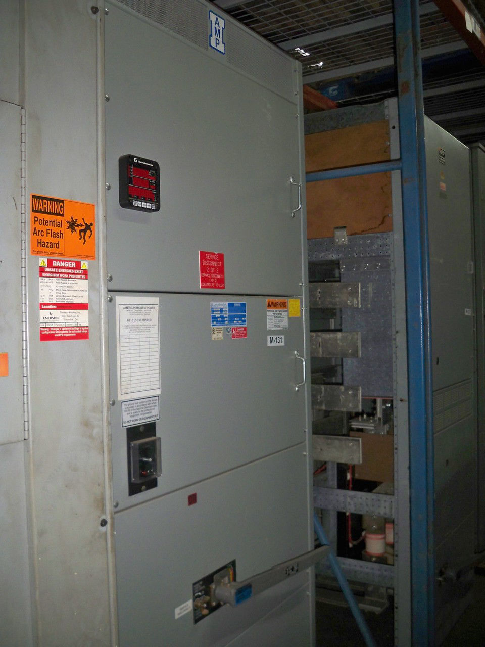 Picture of AMP Series 1200 Amp 3 Phase 4 Wire VLB348-ST Main Fusible panel w/ GFI (M-131)