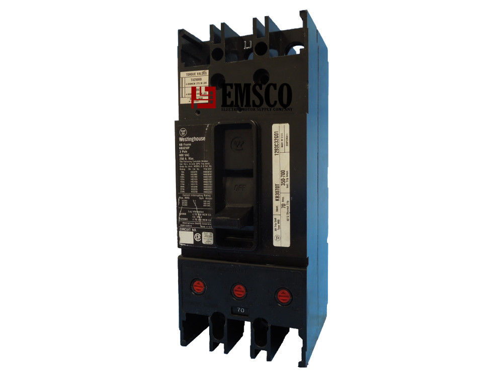 Picture of KB3070 Westinghouse Circuit Breaker