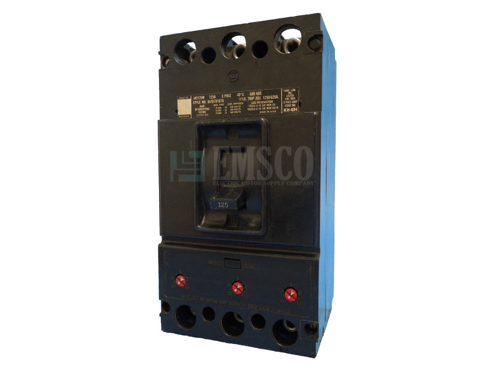 Picture of JA3125 Westinghouse Circuit Breaker