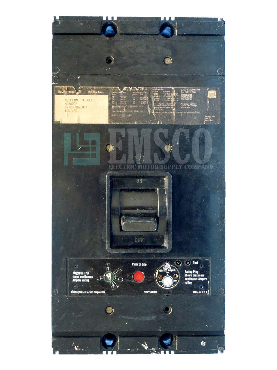 Picture of MC3800F Westinghouse Circuit Breaker