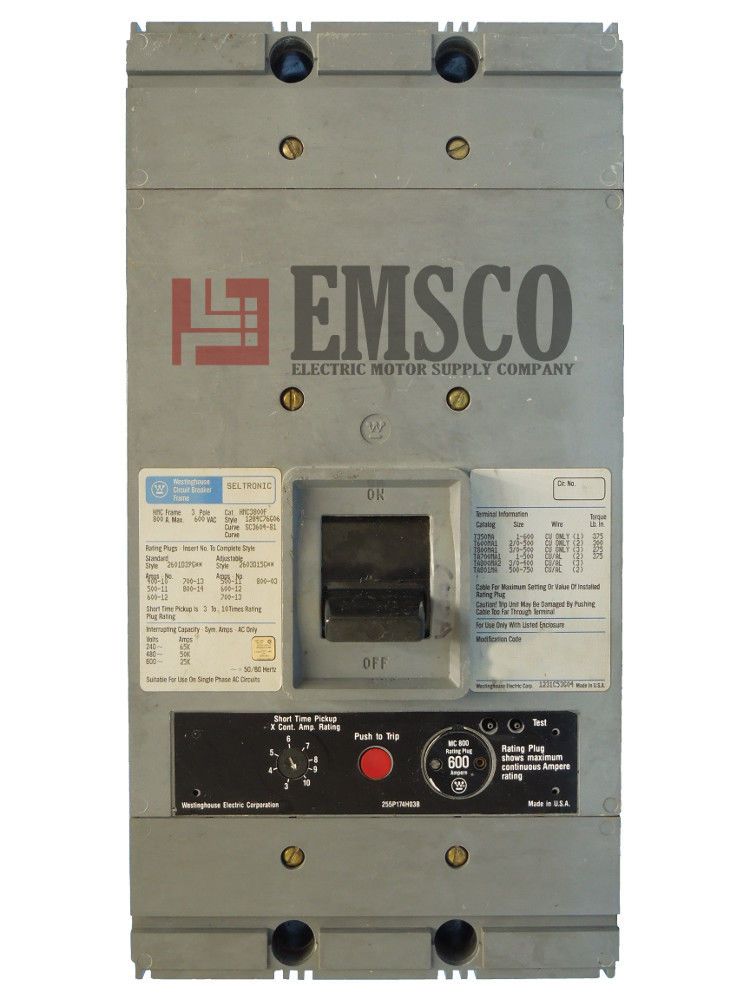 Picture of HMC3800F Westinghouse Circuit Breaker