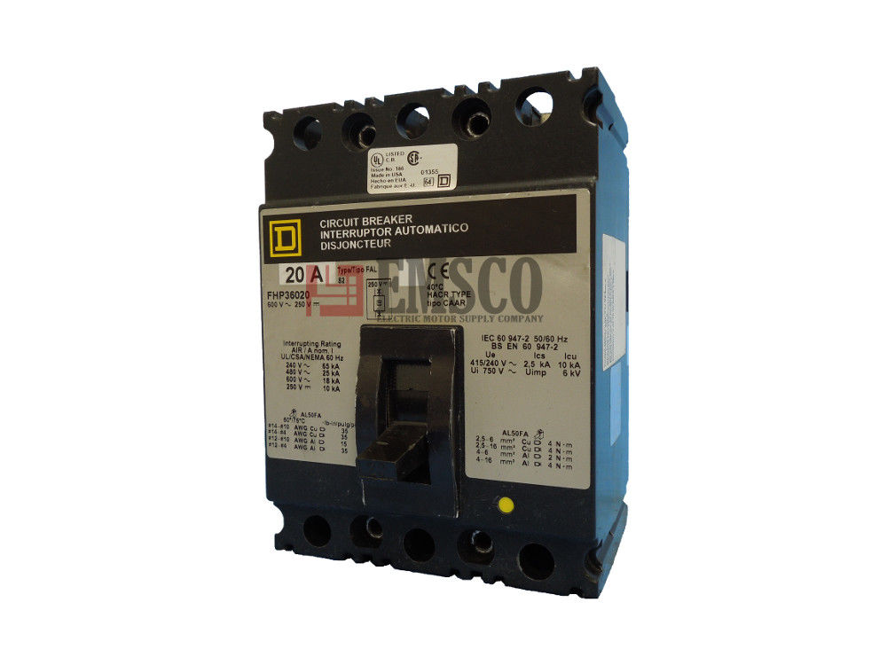 Picture of FHP36020 Square D Circuit Breaker
