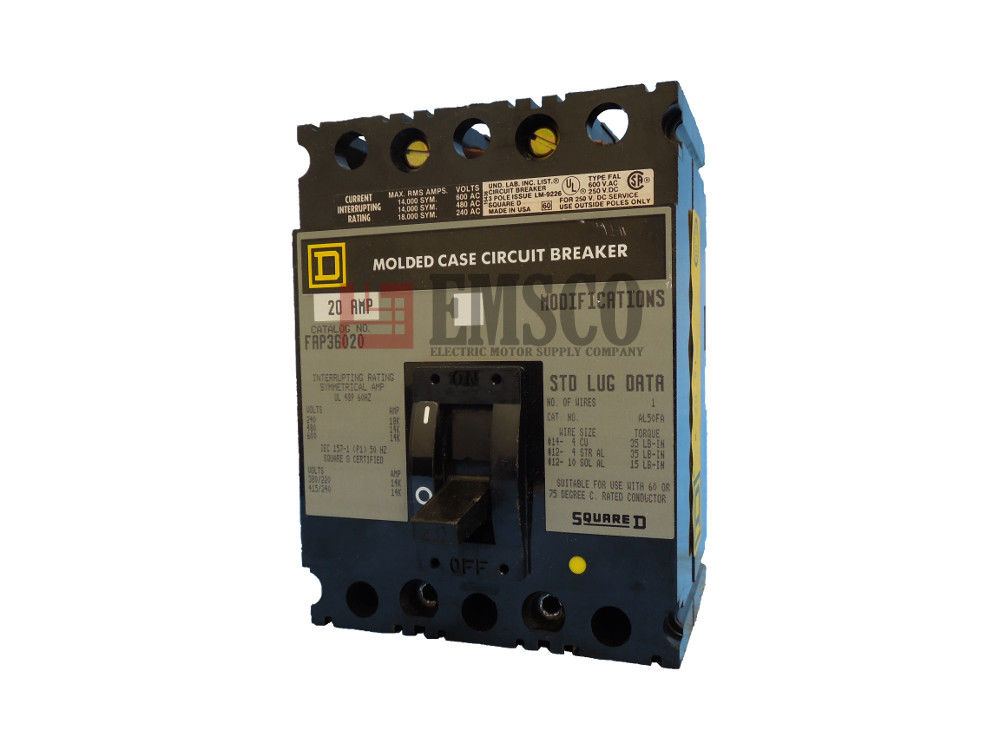 Picture of FAP36020 Square D Circuit Breaker