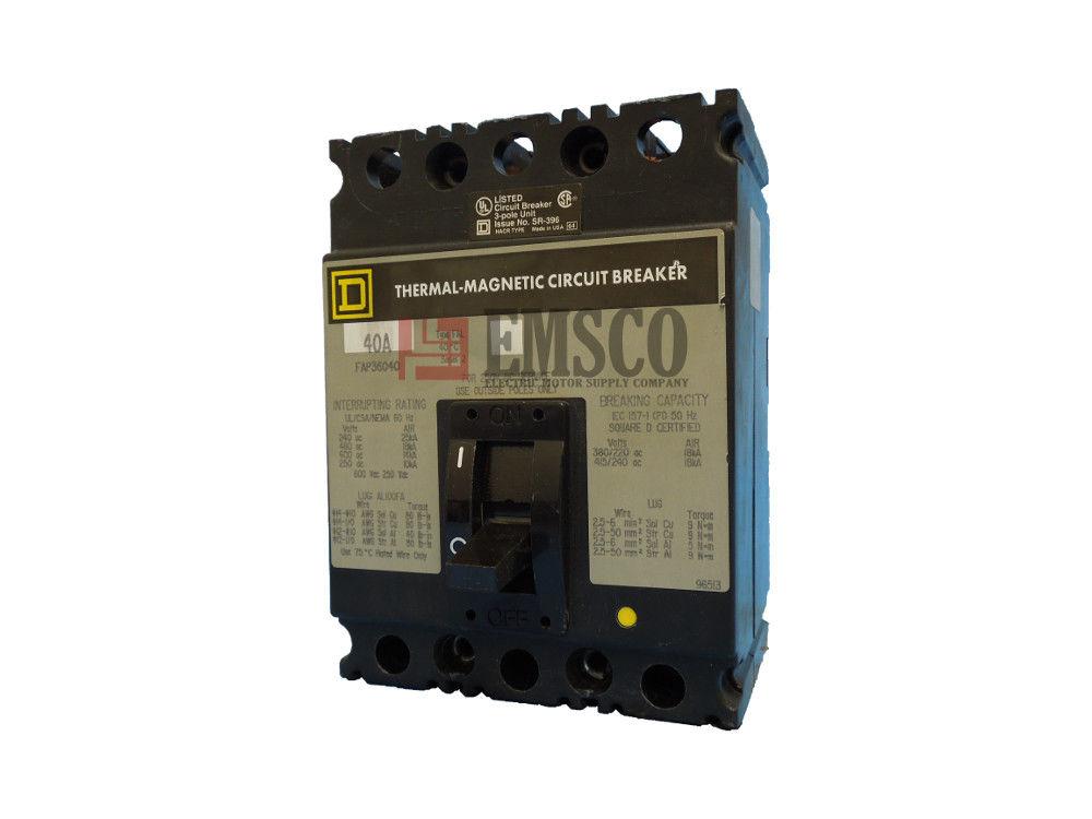 Picture of FAP36040 Square D Circuit Breaker