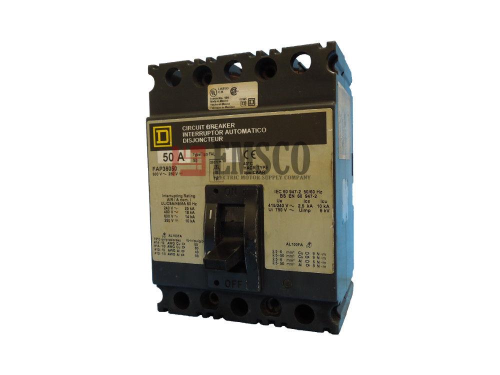 Picture of FAP36050 Square D Circuit Breaker