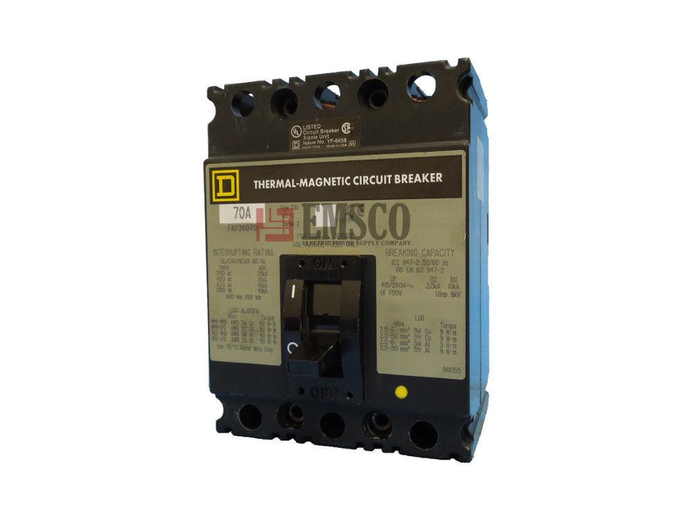 Picture of FAP36070 Square D Circuit Breaker