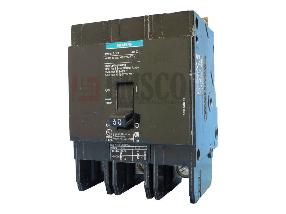 Picture of BQD330 Siemens Circuit Breaker