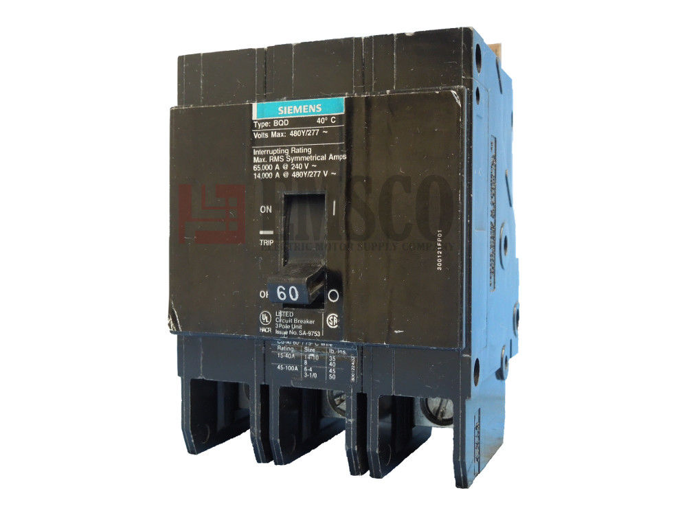 Picture of BQD360 Siemens Circuit Breaker