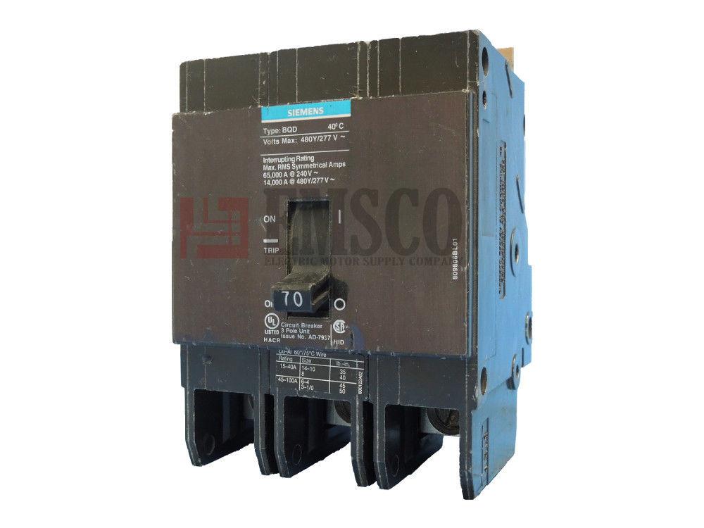Picture of BQD370 Siemens Circuit Breaker