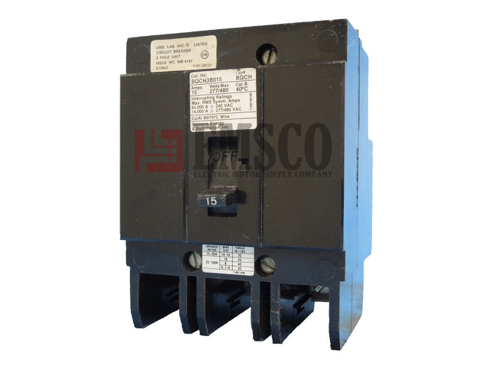 Picture of BQCH3B015 Siemens Circuit Breaker