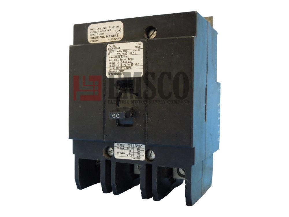 Picture of BQCH3B060 Siemens Circuit Breaker