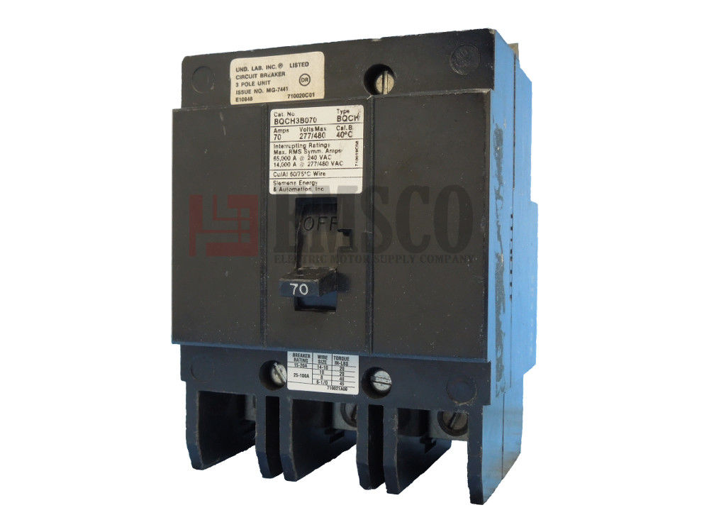 Picture of BQCH3B070 Siemens Circuit Breaker