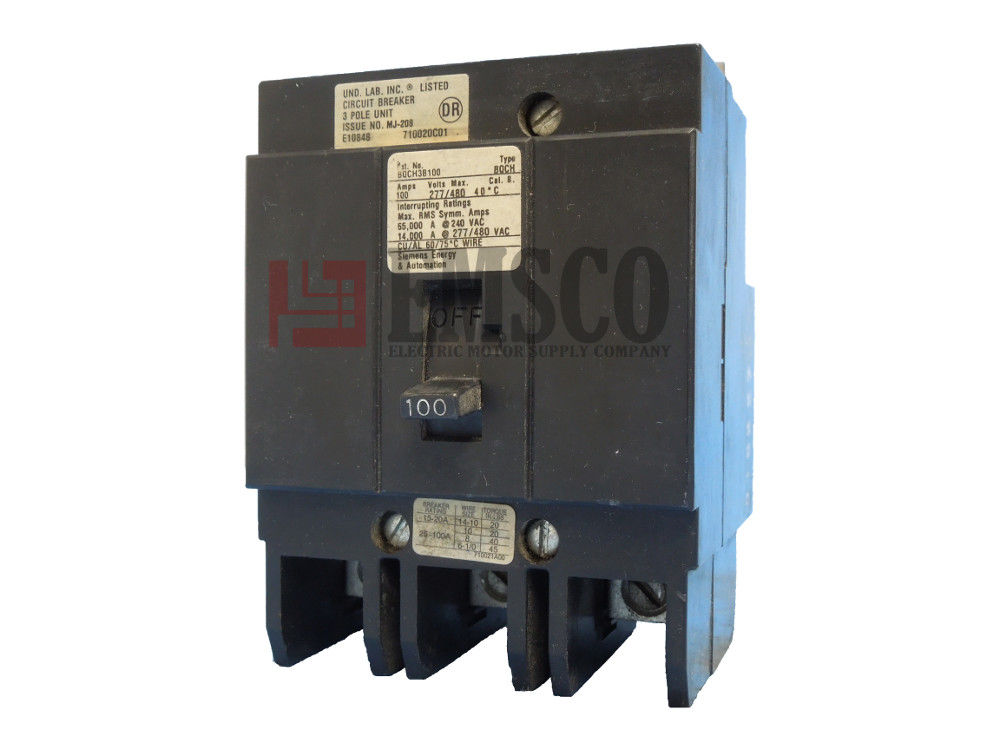 Picture of BQCH3B100 Siemens Circuit Breaker