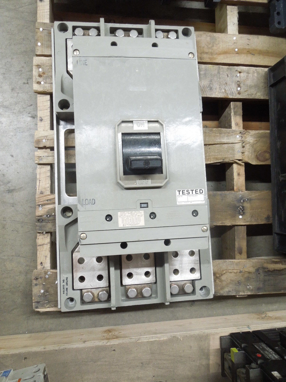 Picture of HP3-F160 ITE Breaker 1600A Frame 800A Rated 600 VAC M/O F/M w/ Test Report