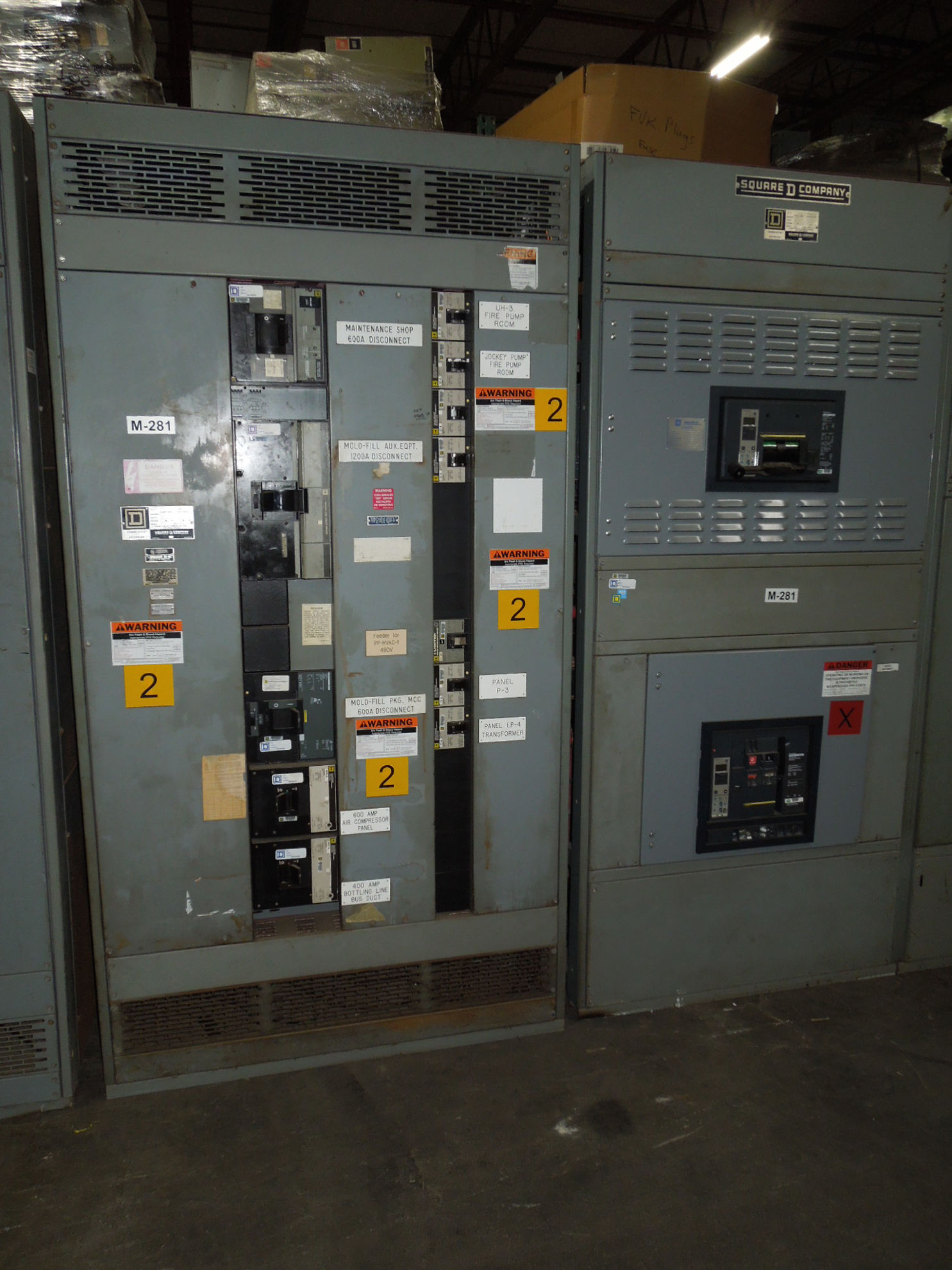 Picture of Square D QED Power-Style I-line Switchboard 2000A 3Ph 4W 480Y/277V NW20H Main Breaker Panel NEMA 1
