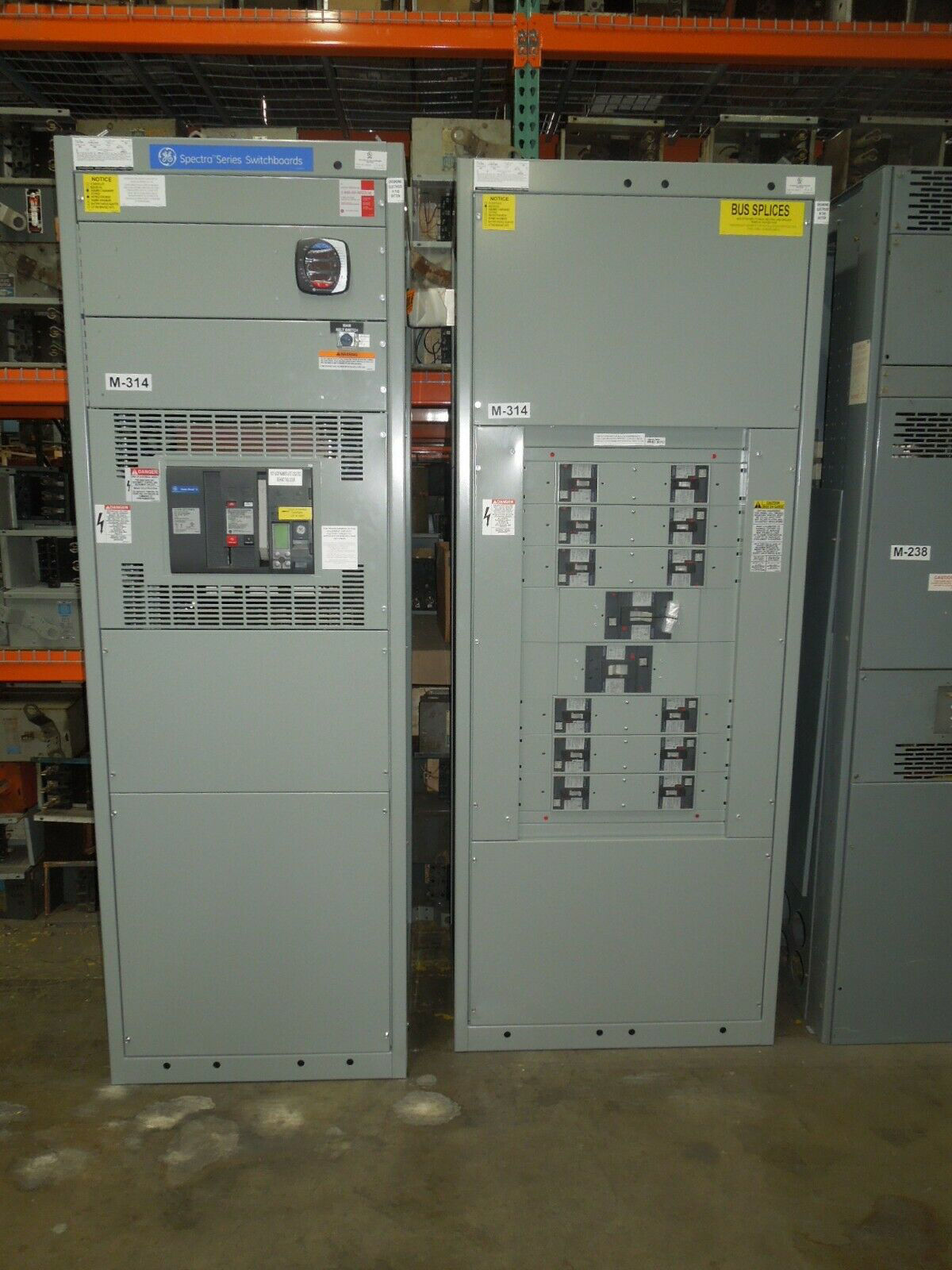 Picture of GE Spectra Series Lineup 2000A 3ph 600V AC PowerBreak II Main SSF20G220 RELT w/ Breakers Dist. New Surplus