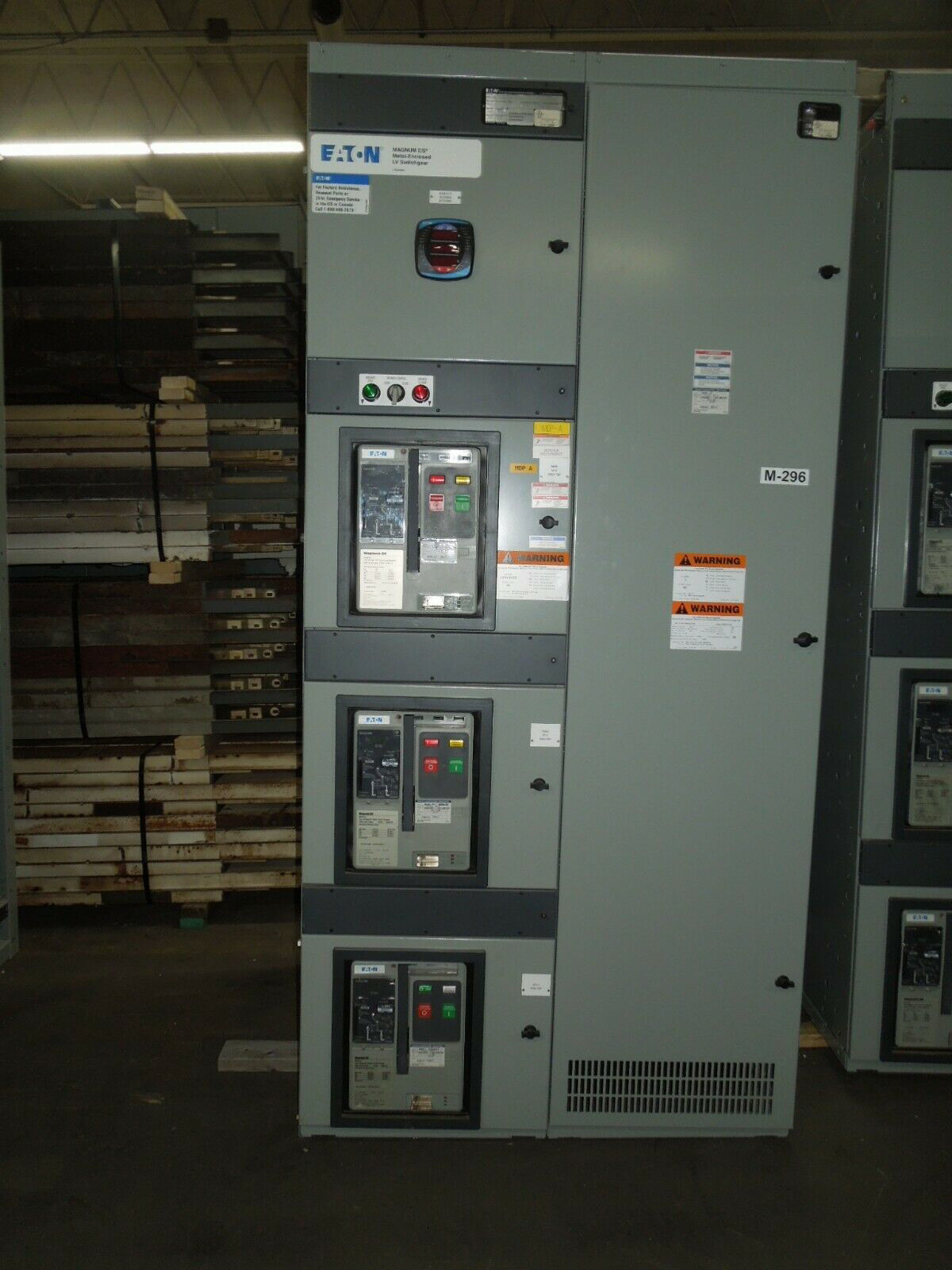 Picture of Eaton Low Voltage Switchgear 1200A Rated 3ph 480/277V Main Tie Main w/ Dist Used E-OK