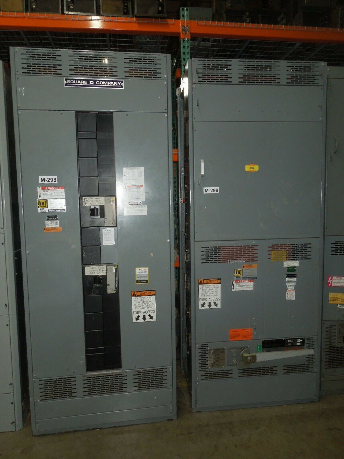 Picture of Square D QED I-Line Switchboard 2000A 3ph 240/120V B Phase High BPO3620 Main Nema 1 Used E-OK