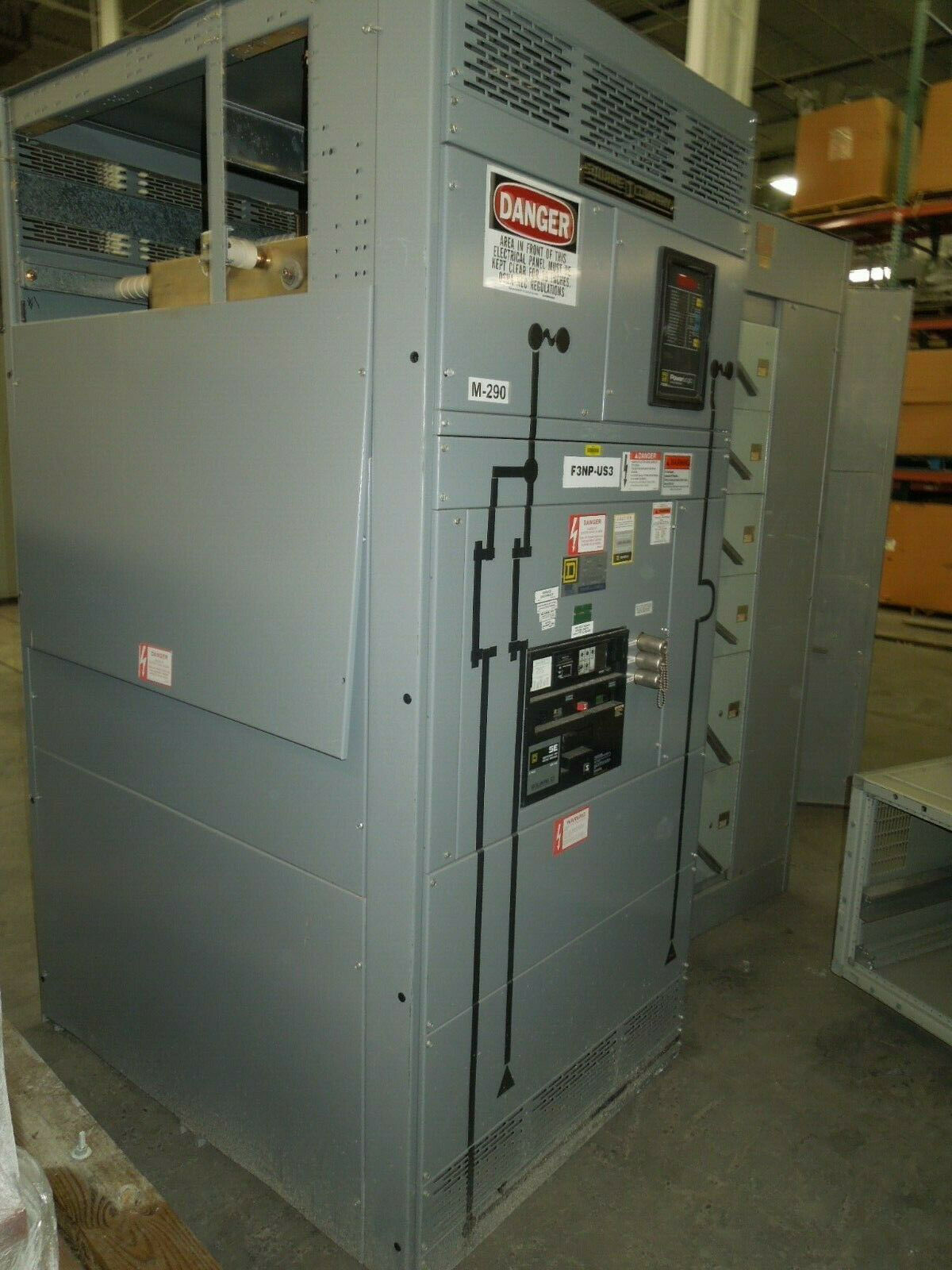 Picture of Square D QED Power Style Switchboard 4000A 3ph 480Y/277V Stand Alone Main w/ LSI Used E-OK