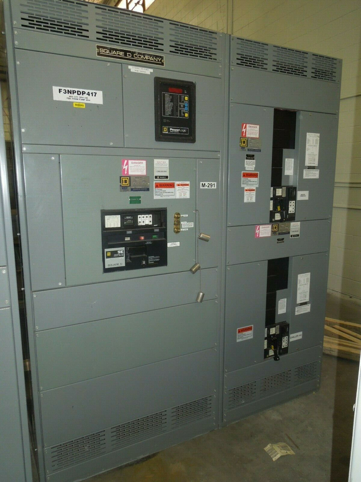 Picture of Square D QED Power Style I-Line Switchboard 2500A 3ph 480Y/277V Main-Tie w/ Dist. LSIG Used E-OK