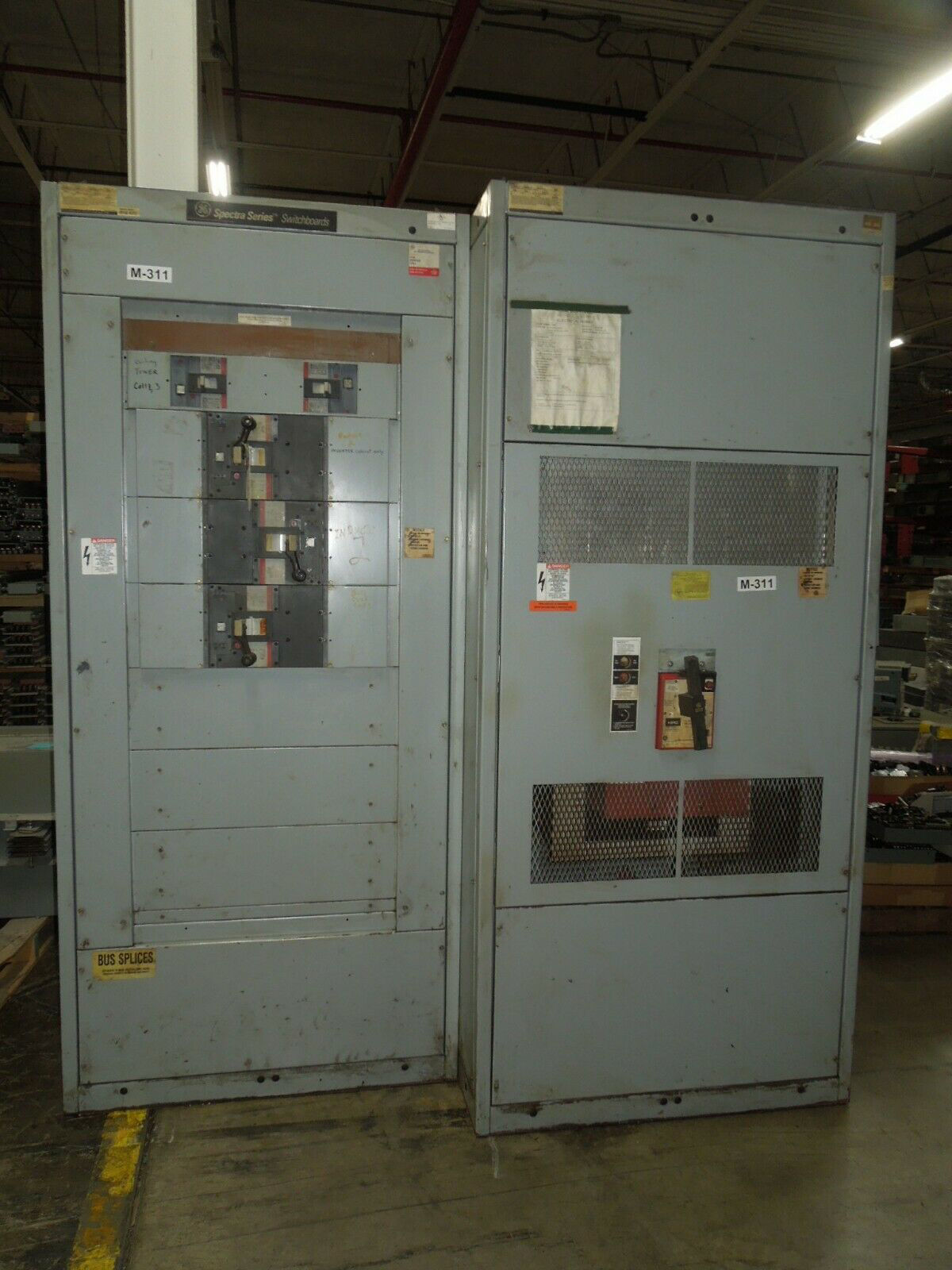 Picture of GE Switchboard 3000A 3ph 4W 480Y/277V HPC Fused Main w/ Breaker Distribution APN Used E-OK