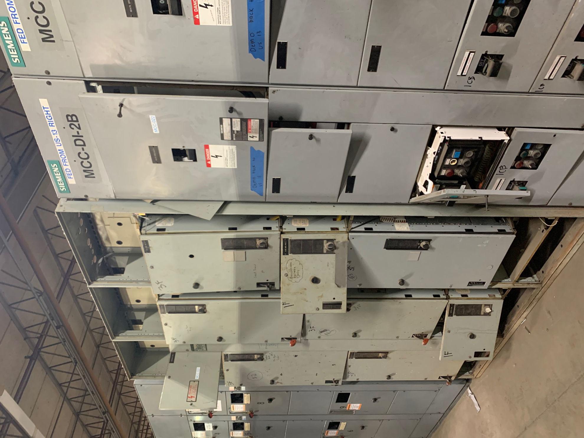 Picture of Siemens Model 95 MCC 225 Amp Breaker Main 480Y/277 Volt