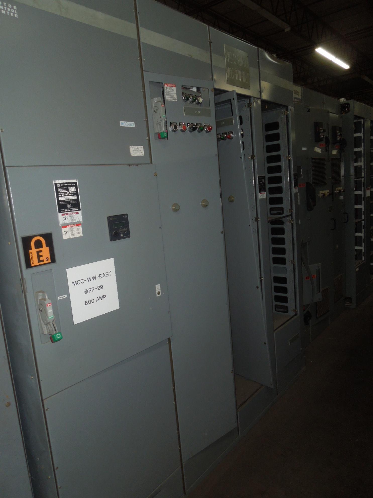 Picture of Square D Model 6 MCC 800 Amp MEF36800LIG Breaker Main 480Y/277 Volt