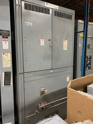 Picture of Cutler Hammer Power Line C 4000 Amp 480/277 Volt 3 Phase 4 Wire Main Fused Switch With PRL Breaker Distributio-