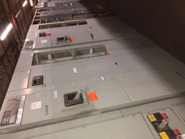 Picture of Westinghouse 2100 MCC 500 Amp NB3800PF Main Breaker 480Y/277 Volt