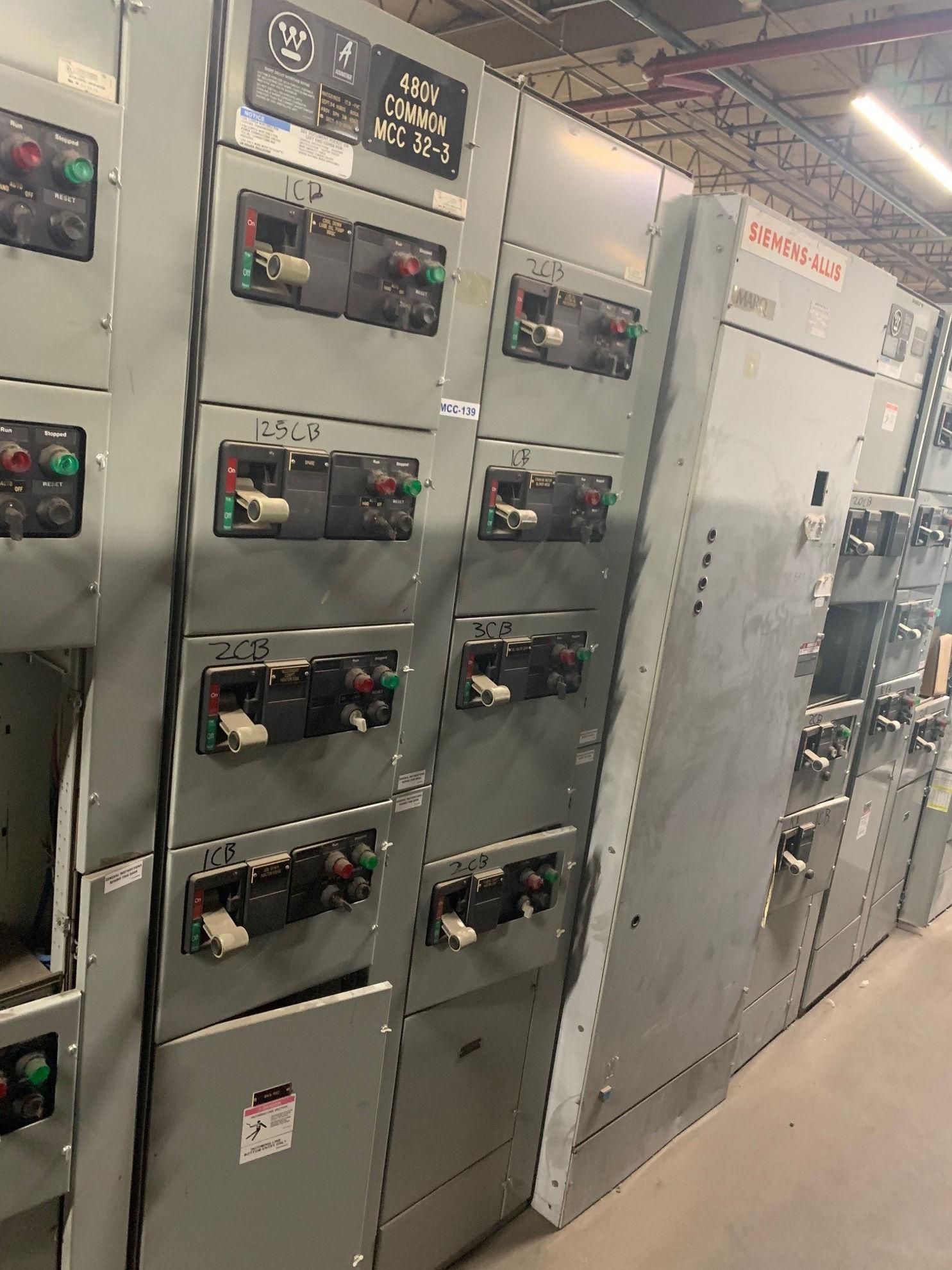 Picture of Westinghouse Advantage MCC 600 Amp MLO 480Y/277 Volt