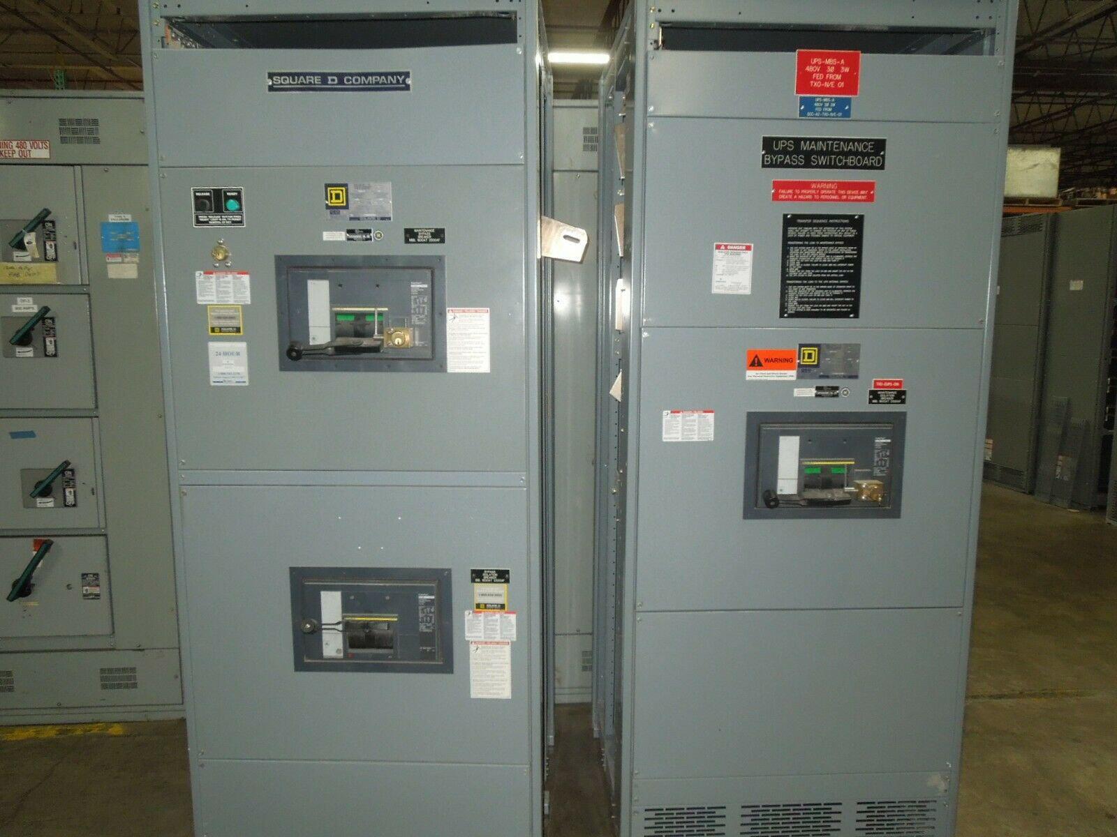 Picture of Square D QED Power Style Switchboard 1600A 3P 480/277V w/ 3 RJF36160JK Breakers MO/FM