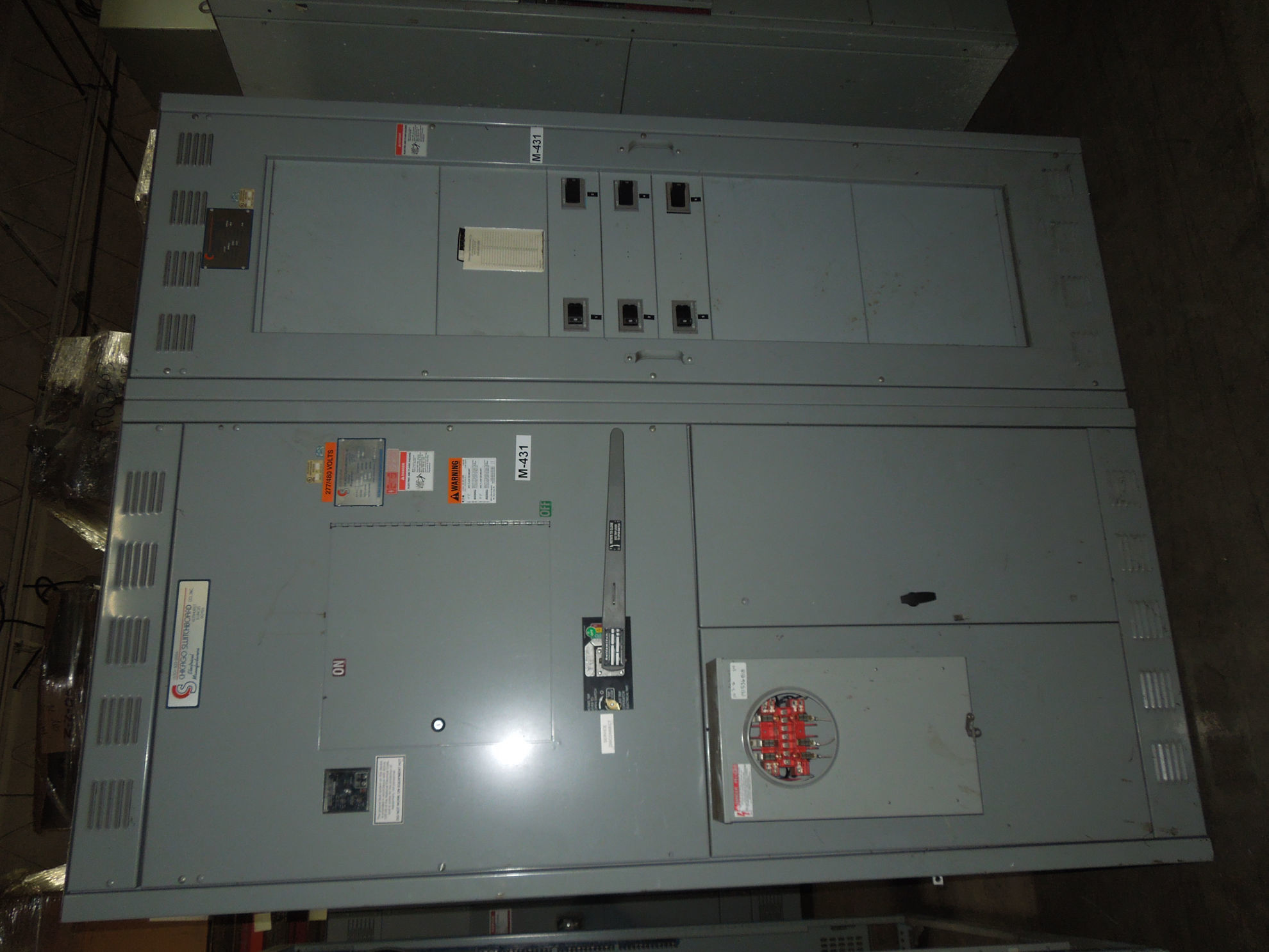 Picture of Chicago Switchboard VLB349-G6 Fusible Main 1600 Amp 480 Volt GF Relay W/ Dist. NEMA 1